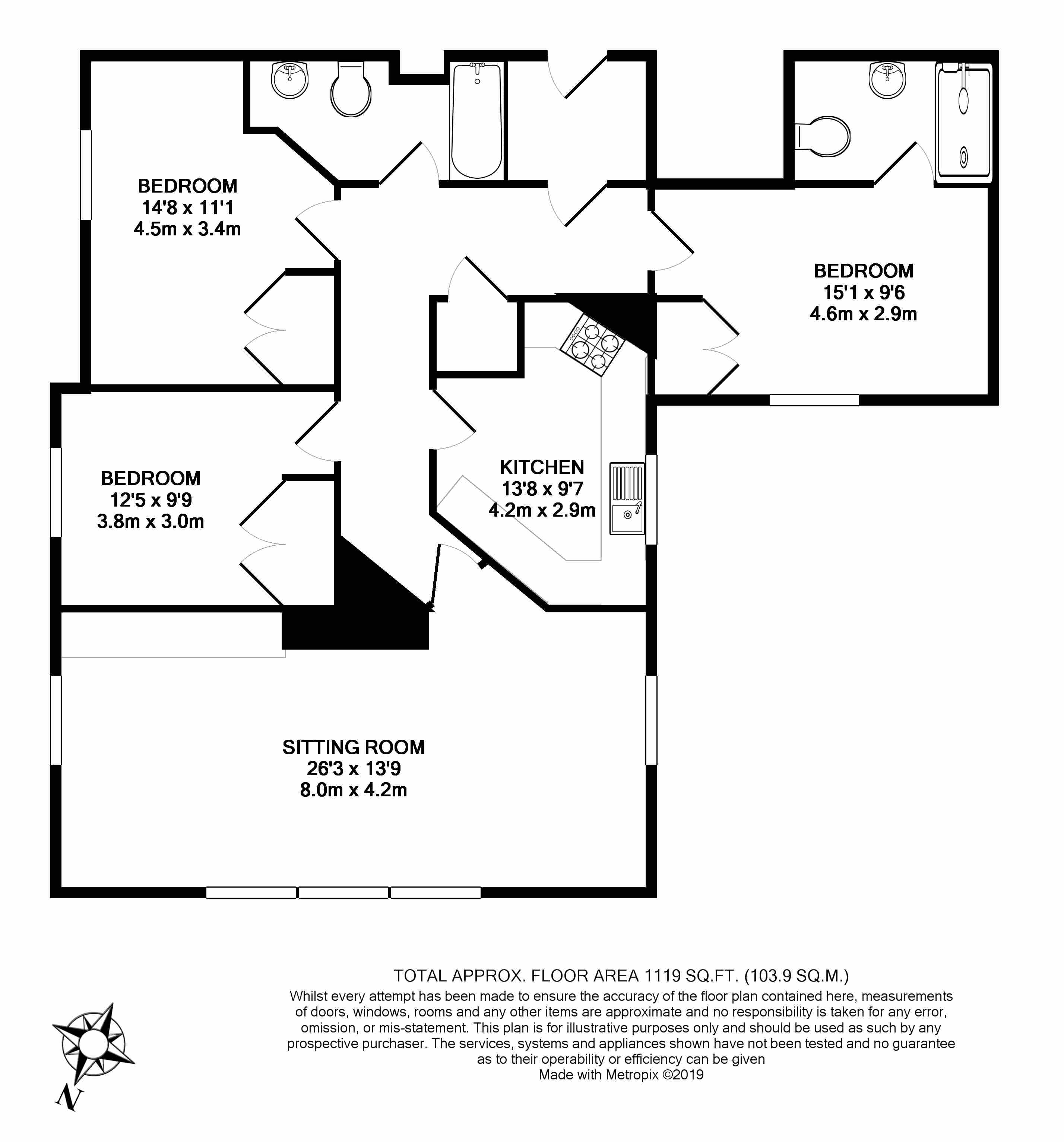 Floorplans For Cavendish Lodge, Bath